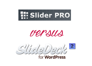Comparing SlideDeck vs Slider PRO