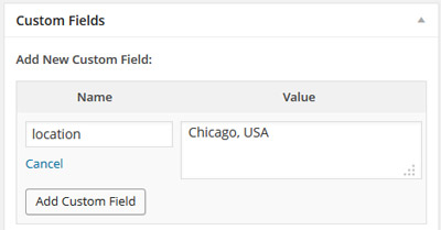Add a custom field to show in your travel map