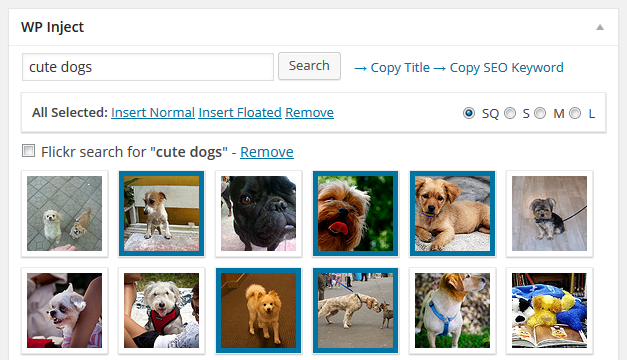 WordPress image insertion plugin - add multiple photos